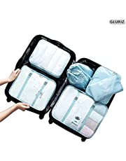 Organizador de viaje, Gluriz 6 Piezas Organizador de Equipaje, Bolsa organizador de maleta equipaje, Accesorios de Almacenamiento, Bolsa de Viaje maleta