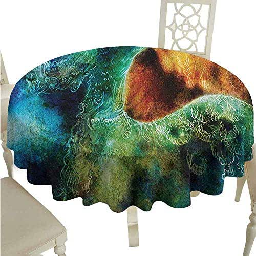 duommhome Fantasy Durable Tablecloth Mythical Legendary Phoenix Rebirth Long New Life from The Ashes Sun Exceptional Image Easy Care D55 Multi