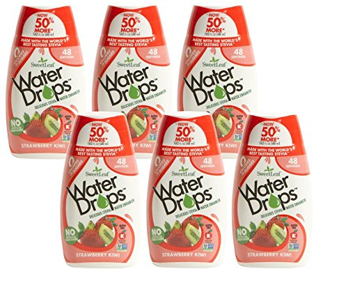 Sweetleaf Stevia Natural Water Drops Strawberry Kiwi, 1.62 Ounce (Pack of 6)