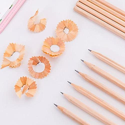 Toruiwa 10X L/ápiz de Madera Dise/ño Hexagonal para Oficina Escuela Suministros de Dibujo Adecuados para Dibujar o Tomar Notas Color Madera 17.7 0.7cm