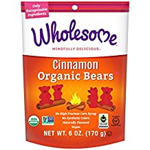 Wholesome Organic Cinnamon Bears 6-Ounce Resealable Pouch, 6-Count