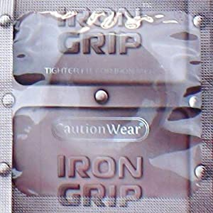 Caution Wear Iron Grip Snugger Fit Silicone-Based Lubricated Condoms 24-Pack