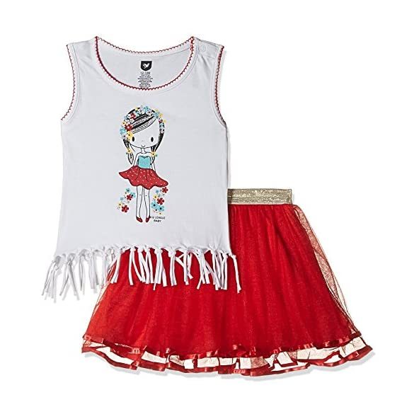 612 League Baby Girls' Clothing Set (ILS17I75004-12 – 18 Months-RED)