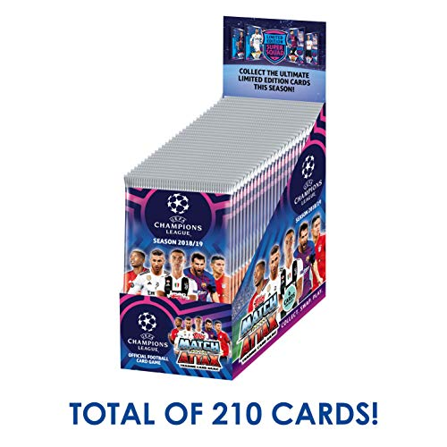 Topps 2018-19 Match Attax Champions League Cards - 30-Pack Box (7 Cards per Pack) (Total of 210 Cards) Look for Superstars Messi, Ronaldo, Mbappe, Neymar, Pogba, Salah, Pulisic & More!