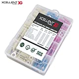 Xcellent Global 270pcs Heat Shrink Wire Connector Kit Marine Automotive Electrical Insulated Crimp Terminals Set PC036