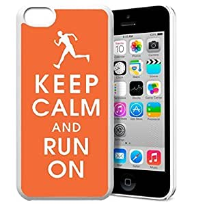 diy phone caseKeep Calm and Run On Pattern HD Durable Hard Plastic Case Cover for iphone 5/5s Design By GXFC Casediy phone case