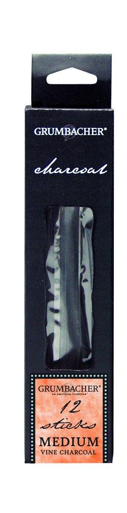 Medium Grumbacher Vine Charcoal V4212 12//Pk