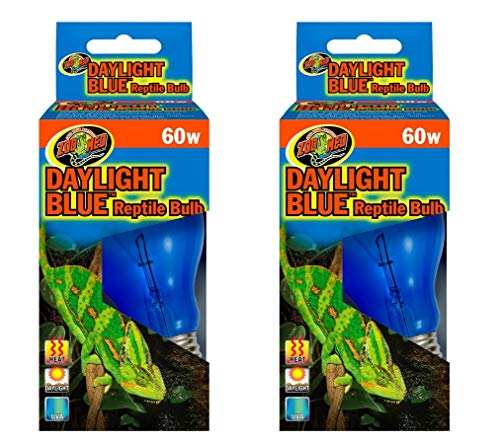 (Daylight Blue Reptile Bulb [Set of 2] Watt: 60 Watts)