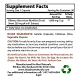 Best Naturals Bilberry Extract 1000mg Capsule