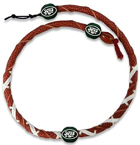 NFL New York Jets Classic Spiral Football Necklace