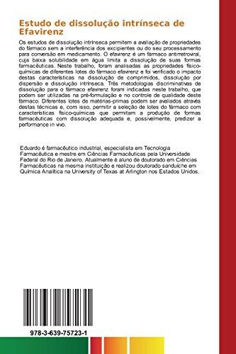 Estudo de dissolução intrínseca de Efavirenz