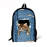 Backpack For Kids Boys Girls Cute Animal Print Lightweight School Bag-CAT2 Review