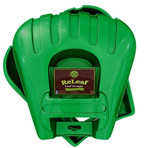 ReLeaf Leaf Scoops: Ergonomic, Large Hand Held Rakes for Fast Leaf & Lawn Grass Removal (Hands Paddle)