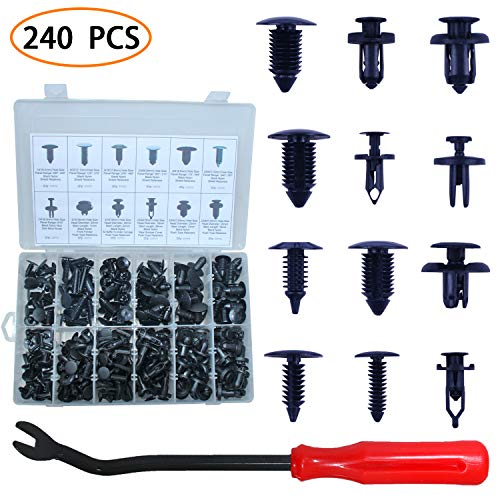 Auto Body Clips Car Push Pin Rivets Retainer Clips Plastic Fasteners Trim Door Panel Clips 248 PCS With Fastener Remover Replacement Parts For Toyota GM Ford Lexus Chrysler With Plastic Storage Case - Door Cars For Panels