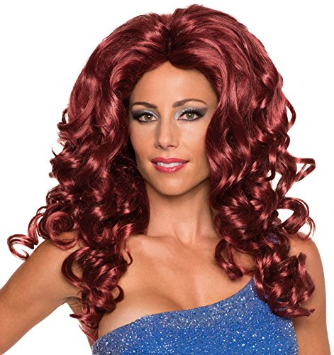 Housewife Halloween Costumes Real (Rubie's Costume Co Women's Felicity Frappuccino Wig, Red, One)