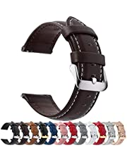 12 Colors for Quick Release Leather Watch Band, Fullmosa Axus Genuine Leather Watch Strap 14mm, 16mm, 18mm, 20mm, 22mm or 24mm (choose the proper size)