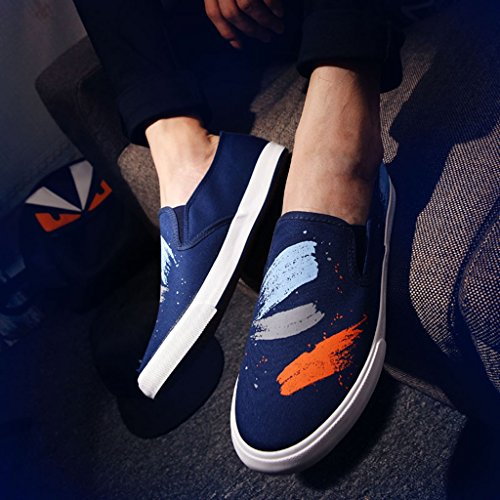 Size Black traspiranti in casual pigri estive YaNanHome scarpe 42 pedale di Espadrillas Blue uomo scarpe Scarpe da Color da uomo scarpe da uomo coreano un tela scarpe Scarpe basse stile wFwqPZp