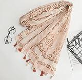 Scarfs for women,100% cotton&linen, soft&light scarf. Gift for women. (Totems)