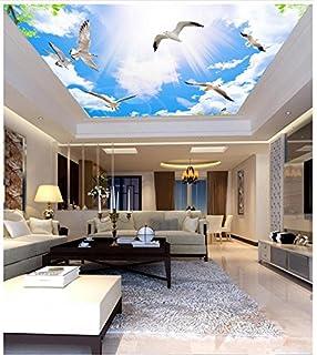 KUKI Blauer Himmel und weiße Schlafzimmer Wohnzimmer Decke Decke ...