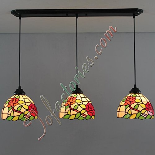 ETERN Rose Continental Retro Living Room Hallway Creative Restaurant Chandeliers Pendant Light - 3 Lights