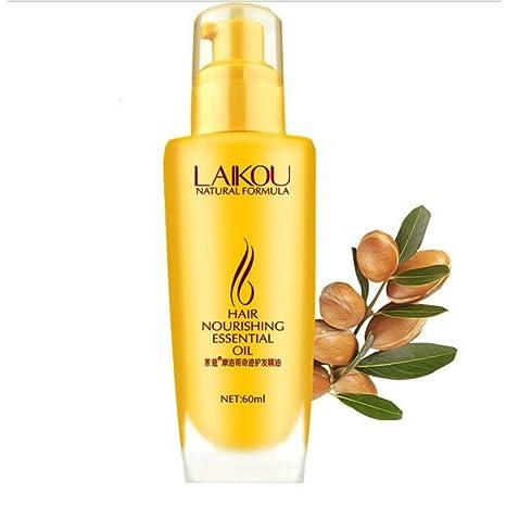 Aceite de argán marroquí puro, ofrece fórmula de restauración de cabello suave enriquecida con vitaminas