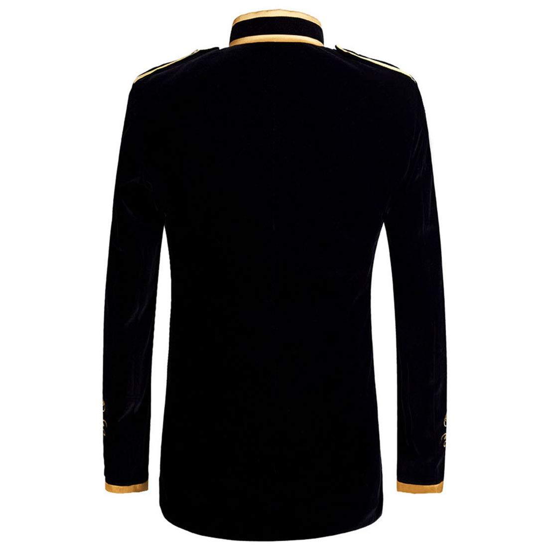Amazon.com: PYJTRL - Chaqueta de terciopelo negro con ...
