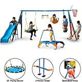 FITNESS REALITY KIDS \The Ultimate\ 8 Station Sports Series Metal Swing Set