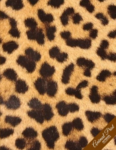 Animal Print Notebook Collection: Leopard Design, Journal/Diary, Wide Ruled, 100 Pages, 8.5 x 11