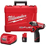 Milwaukee 2453-22 M12 Fuel 1/4 Hex Impact Driver with 2 Batteries