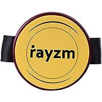 Rayzm Pad d'entraînement pour genou avec sangle réglable, tampon en silicone 4 pouces (10,2cm) - résistant et silencieux, peut se monter sur un support de tambour standard de 8mm.
