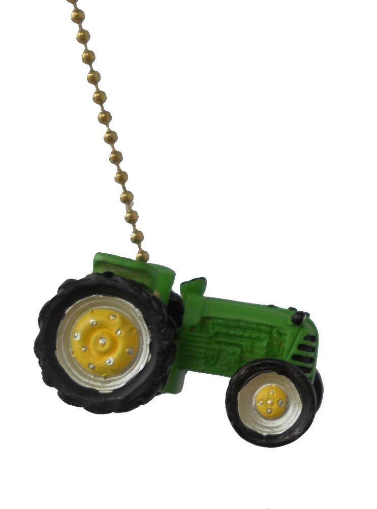 Green Farm Tractor Ceiling Fan Pull Lamp Chain By Clementine Com