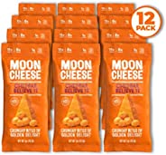 Moon Cheese Cheddar Believe It, 100% Cheddar Cheese Snacks, Crunchy Keto Food, Low Carb, High Protein, 1 oz. (12 Pack)