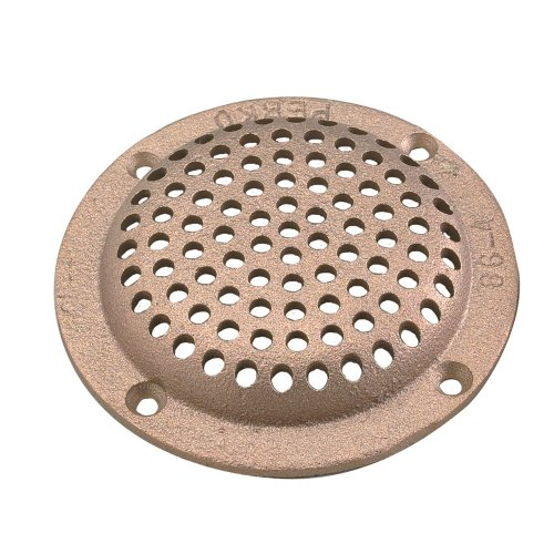 Perko 4'' Round Bronze Strainer MADE IN THE USA by Perko
