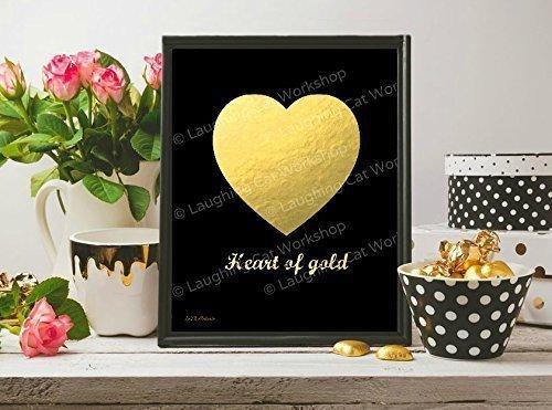 Amazon.com: Heart of Gold art Teen girls room decor Funny ...
