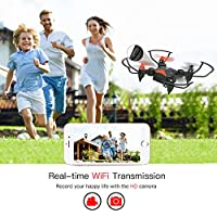 Metakoo Mini Drone with Camera Live Video WiFi FPV, M2 Foldable Pocket Quadcopter Nano RC Drone for Beginners with Altitude Hold, 3D Flips, Headless Mode, Easy Operation Safe for Kids Gift (M2) by Metakoo