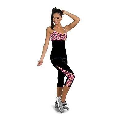 Pantalon Chandal Mujer Lado Impreso Cropped Leggins de Gimnasio ...