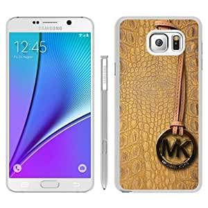 Hot Sale M-ichael K-ors Samsung Galaxy Note 5 Case ,Popular And Unique 147 White Phone Case For Samsung Note 5 Screen Case Fashion Custom Designed
