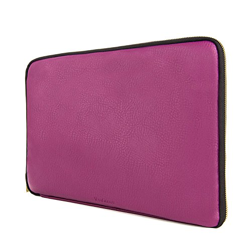 Irista Leatherette Carrying Sleeve for Dell Precision Mobile Workstation 15.6 inch Laptops (Purple)