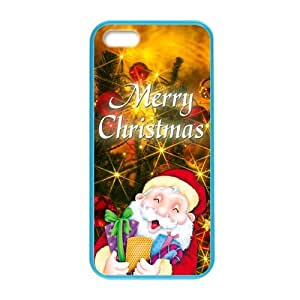 Classic Santa & Rudolph At Christmas Time Black Plastic Custom Colorful Case for iPhone 5,5s?