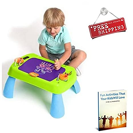 Activity Table For Toddlers With Storage Kids Children Drawing Painting  Playing Table Creativity Table U0026 EBook