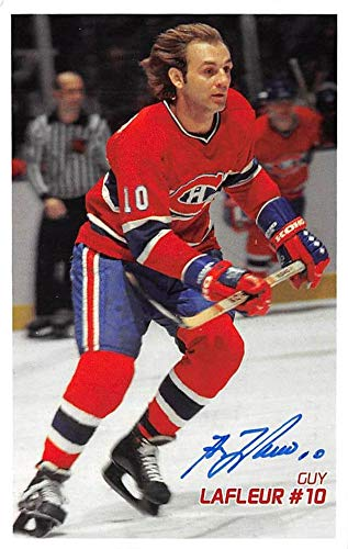 Guy LaFleur autographed post card (Montreal Canadiens Hall of Famer) 5x7#2 NHL Cut Signatures