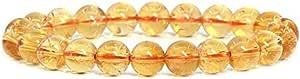 Natural 7.5 inch Stretchy Gemstone Bracelet Chakra Stones Healing Crystal Quartz Great Gifts (Unisex)