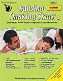 The Critical Thinking Building Thinking Skills Book Beginning School Workbook