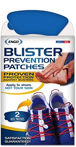 ENGO Heel Blister Prevention Patches (2 Patches) (Red Lacrosse Helmet Accessories)