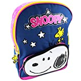 Peanuts Snoopy Woodstock 16 inch Backpack (Stars Navy)