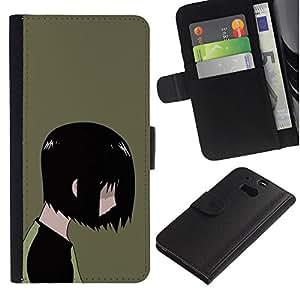 JackGot ( Emo Kid ) HTC One M8 la tarjeta de Crédito Slots PU Funda de cuero Monedero caso cubierta de piel