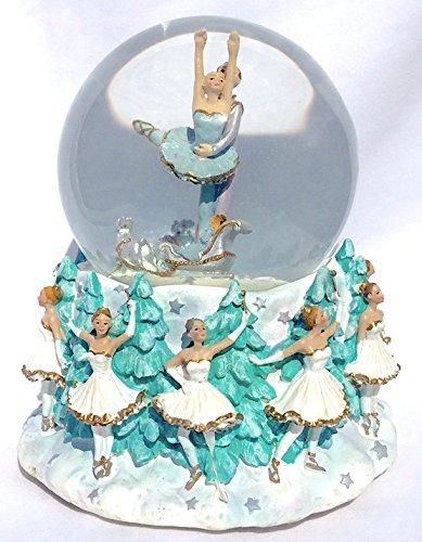 Nutcracker Ballet Music Box (Nutcracker Ballet Themed Musical Snow Globe Glitterdome 100mm Tchaikovsky's Dance of the Sugar Plum Fairies)