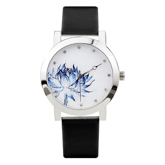 Los relojes de los hombres simple reloj de dos patillas regalo creativo impermeable ????-G: Amazon.es: Relojes