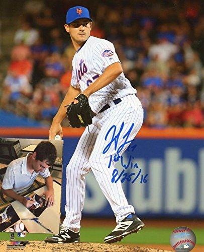 Signed Seth Lugo Photo - 1st Win 8 25 16 8x10 W coa & Proof - Autographed MLB Photos -
