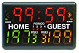 Athletic Specialties Electronic Portable Scoreboard with Wireless Remote, Black, One Size
